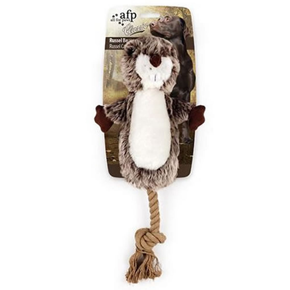Brinquedo para Cachorro AFP - All For Paws Castor de Pelúcia