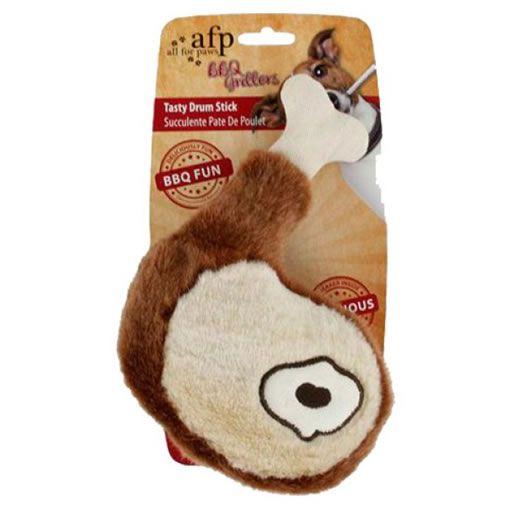 Brinquedo para Cachorro AFP - All For Paws Coxa de Frango de Pelúcia Marrom
