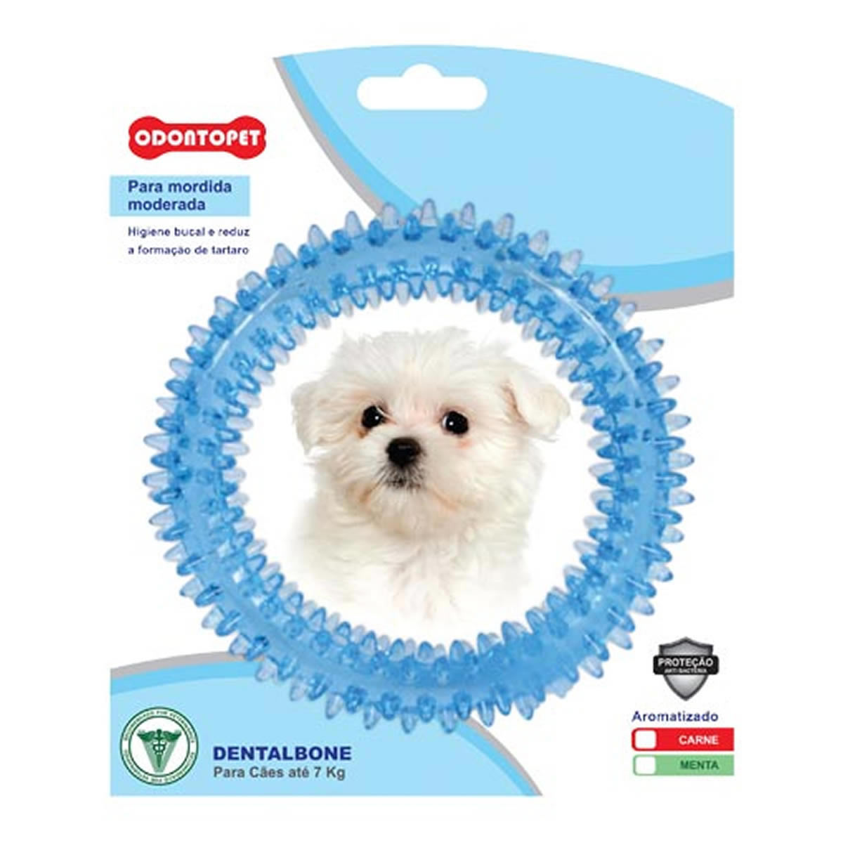 Brinquedo para Cachorro Argola Dentalbone Odontopet Azul