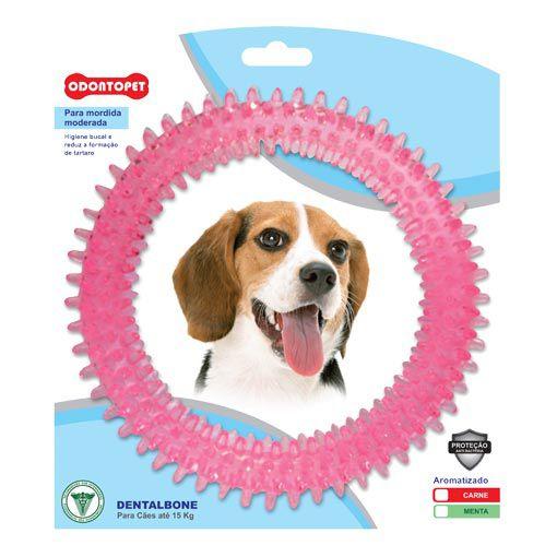 Brinquedo para Cachorro Argola Dentalbone Odontopet Rosa