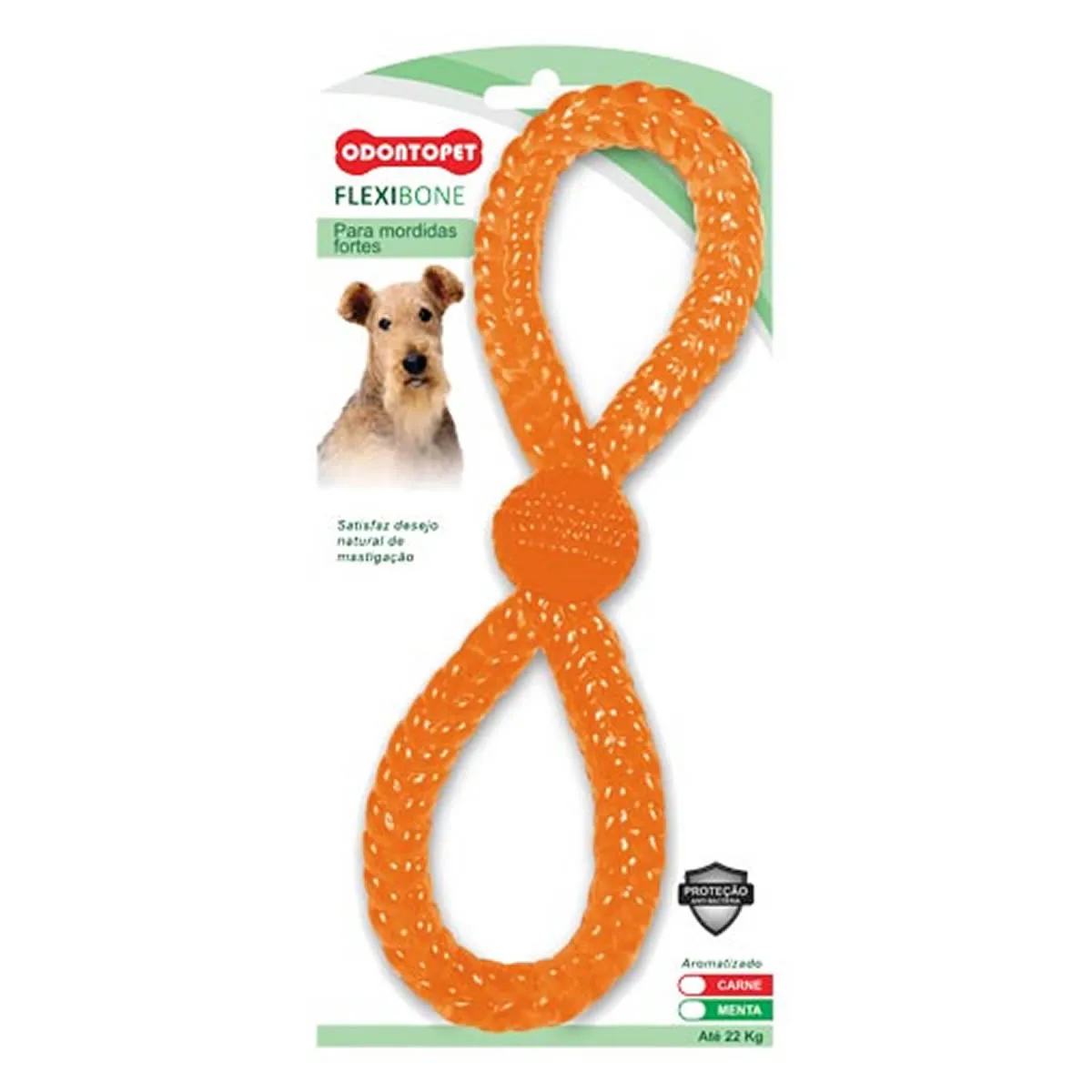 Brinquedo para Cachorro Argola Dupla Flexibone Odontopet Laranja
