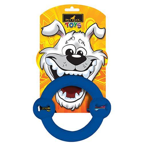 Brinquedo para Cachorro Argola Pet Flex Azul Média