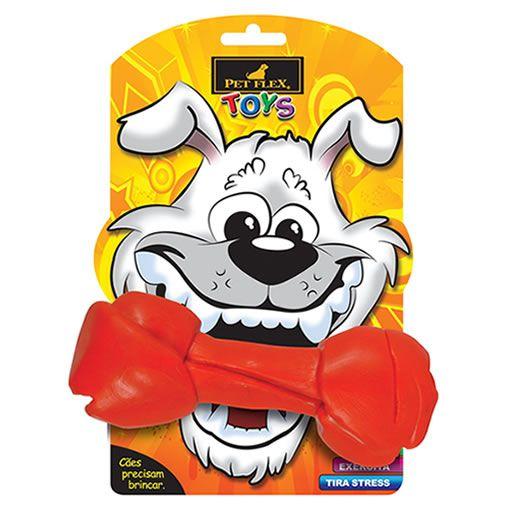 Brinquedo para Cachorro Big Osso Pet Flex Vermelho Grande