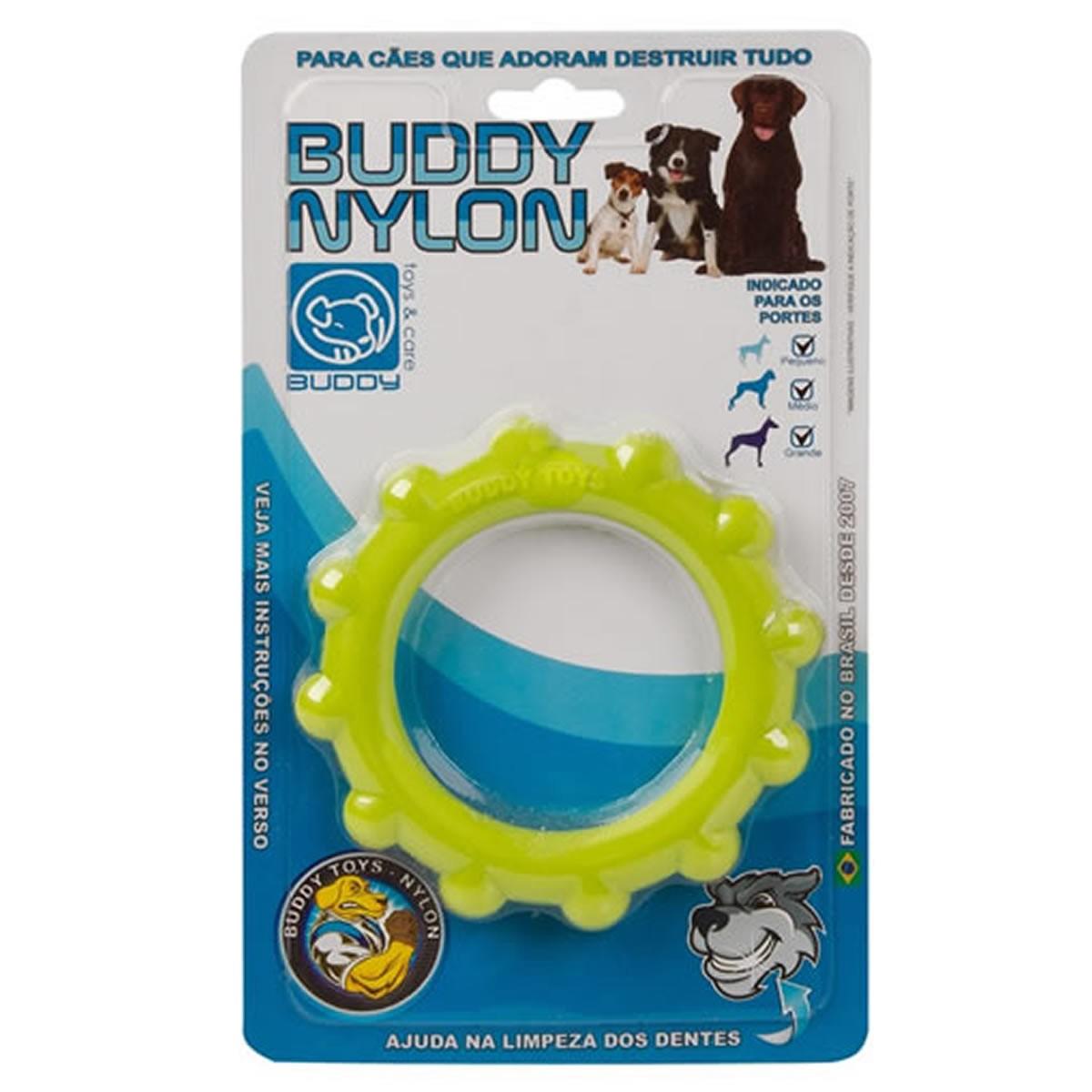 Brinquedo para Cachorro Buddy Toys Disco de Nylon Verde