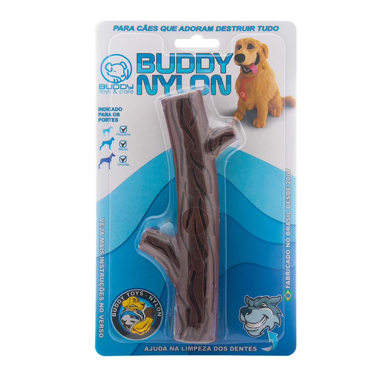 Brinquedo para Cachorro Buddy Toys Graveto de Nylon Marrom