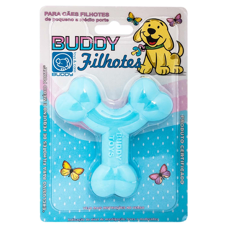 Brinquedo para Cachorro Buddy Toys Ossinho Filhotes Azul