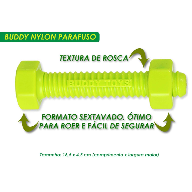 Brinquedo para Cachorro Buddy Toys Parafuso de Nylon Verde