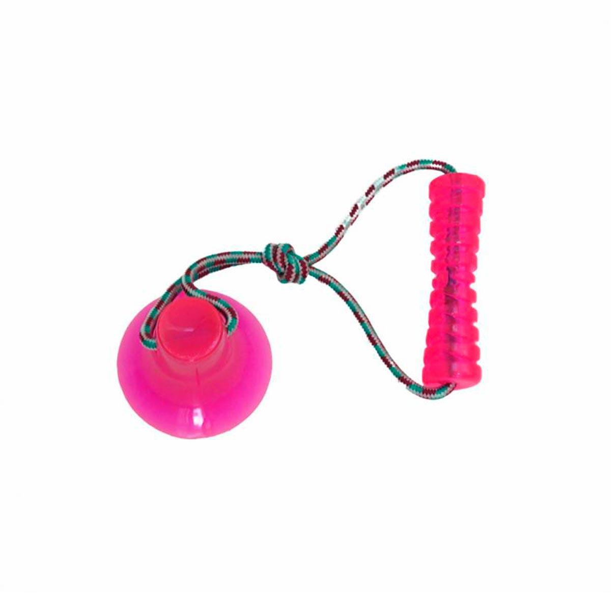 Brinquedo para Cachorro Cabo de Guerra com Ventosa Bite Toy Petmaxx Rosa