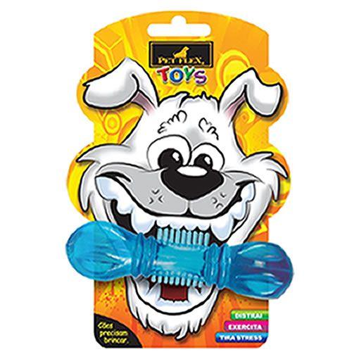 Brinquedo para Cachorro Halteres Pet Flex Azul Pequeno
