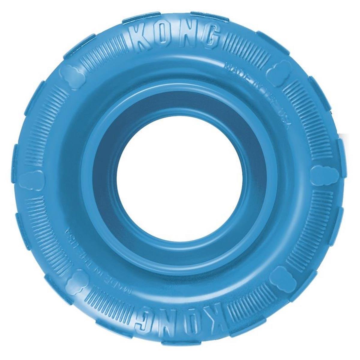 Brinquedo para Cachorro Kong Pneu Rechável Tires Puppy Azul