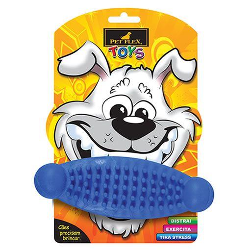 Brinquedo para Cachorro Massageador Pet Flex Azul Grande