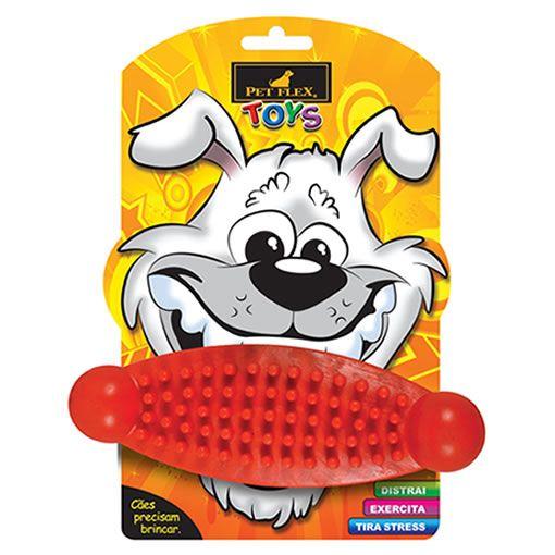 Brinquedo para Cachorro Massageador Pet Flex Vermelho Médio