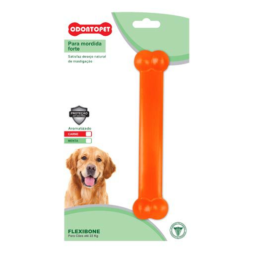 Brinquedo para Cachorro Osso Dentalbone Odontopet Laranja