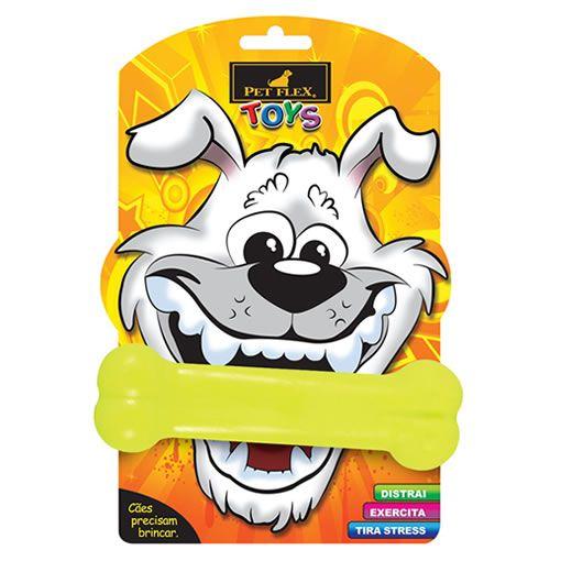 Brinquedo para Cachorro Osso Pet Flex Amarelo Médio