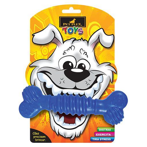 Brinquedo para Cachorro Osso Super Pet Flex Azul Médio