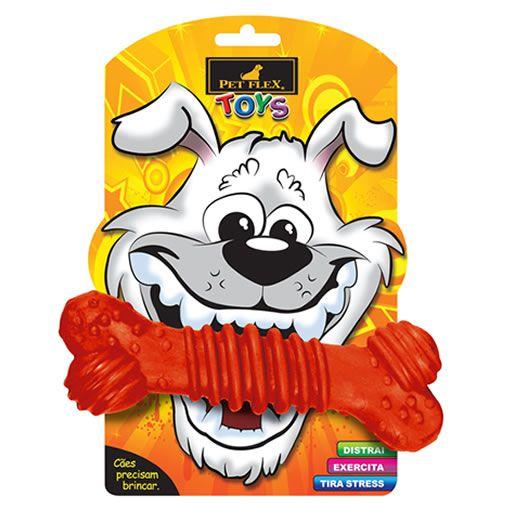 Brinquedo para Cachorro Osso Super Pet Flex Vermelho Grande