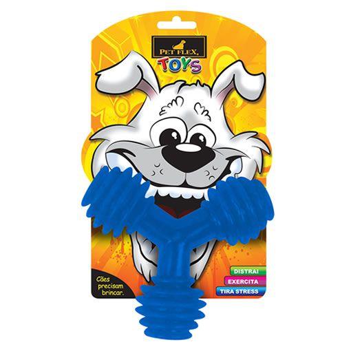Brinquedo para Cachorro Triângulo Pet Flex Azul Médio