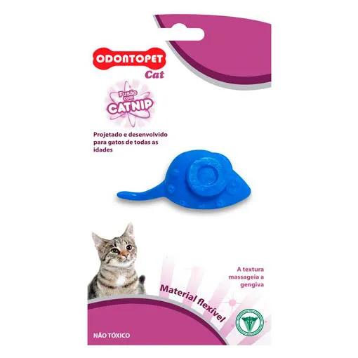Brinquedo para Gato com Catnip Odontopet Cat Mouse Azul