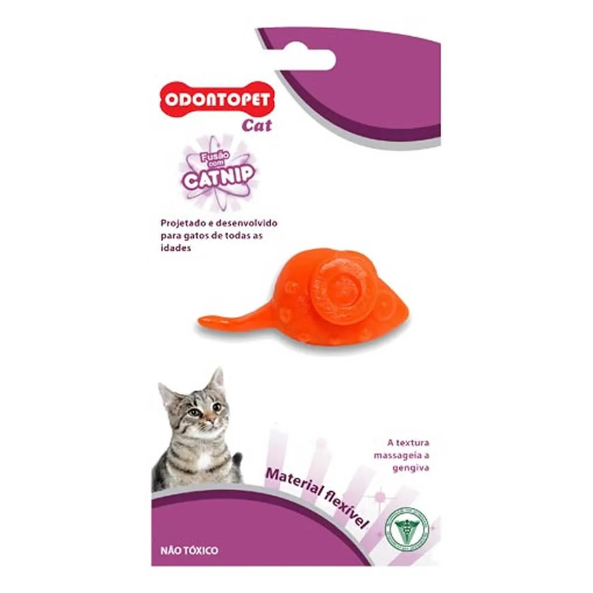 Brinquedo para Gato com Catnip Odontopet Cat Mouse Laranja
