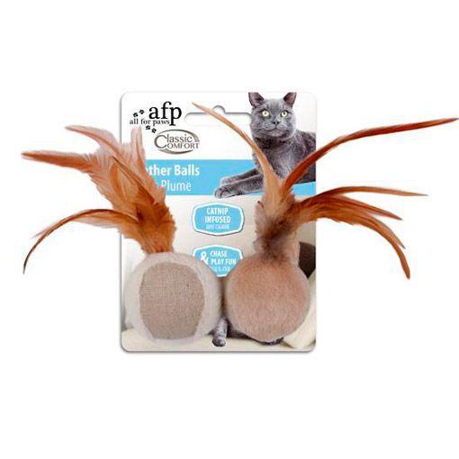 Brinquedo para Gatos AFP Classic Confort Bola de Penas - Feather Ball