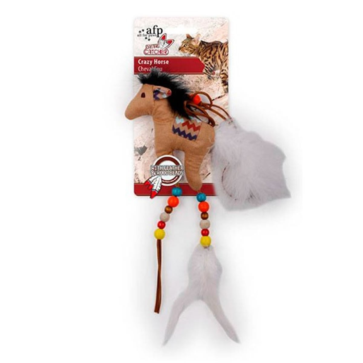 Brinquedo para Gatos AFP Dreams Catcher Cavalo Maluco Marrom - Crazy Horse