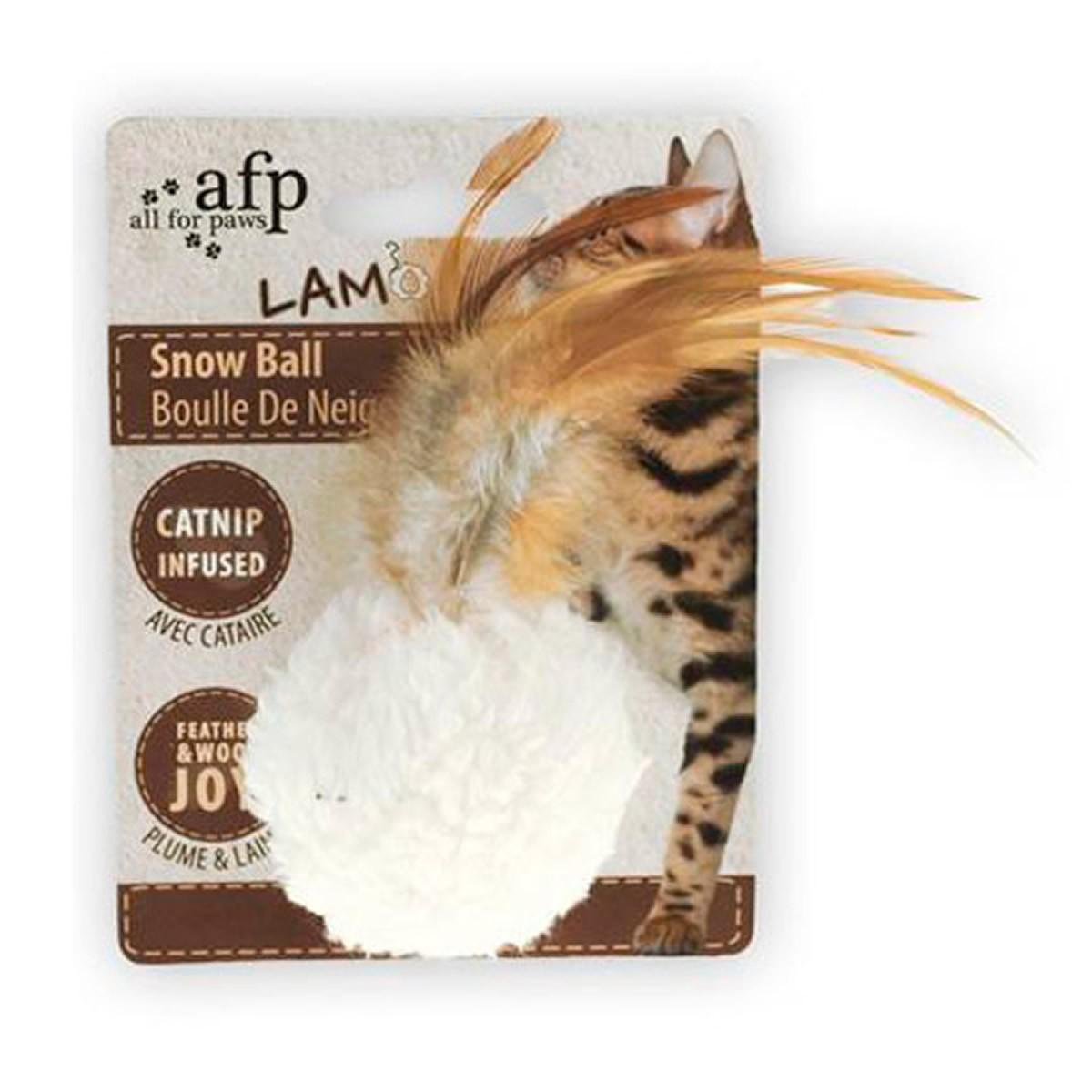 Brinquedo para Gatos AFP LAM Bola de Neve  Branca - Snow Ball
