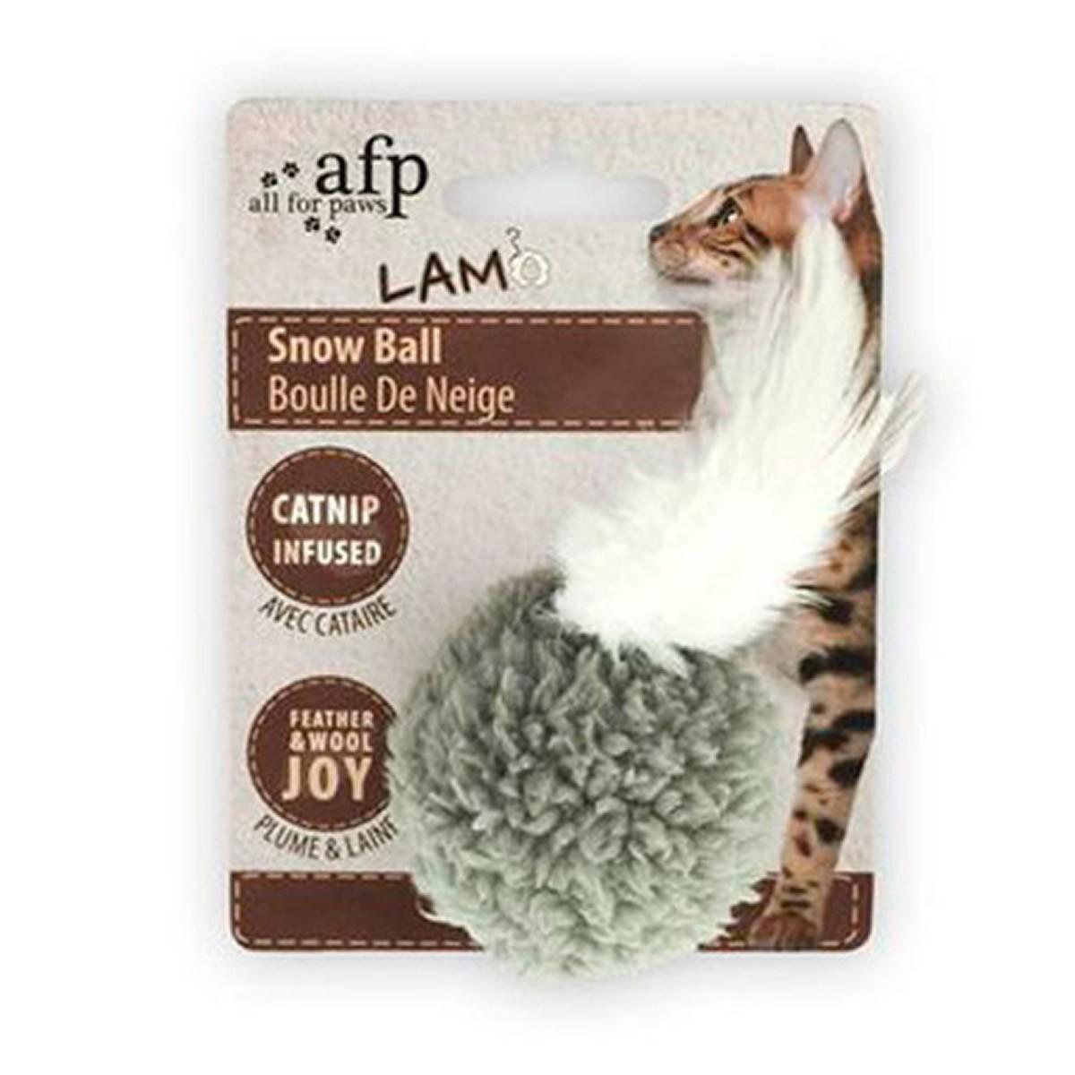 Brinquedo para Gatos AFP LAM Bola de Neve  Cinza - Snow Ball