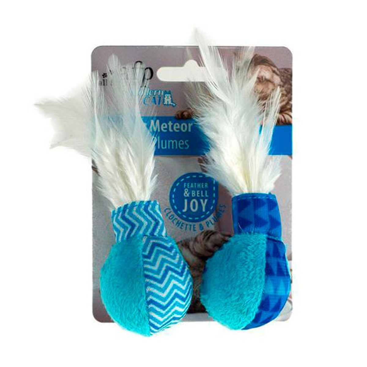 Brinquedo para Gatos AFP Modern Cat Meteoro de Penas Azul - Feather Meteor