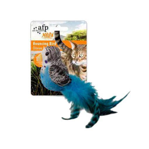 Brinquedo para Gatos AFP Natural Instincts Periquito com Catnip e Penas - Bouncing Bird