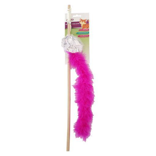 Brinquedo para Gatos Akio Varinha Pink com Plumas