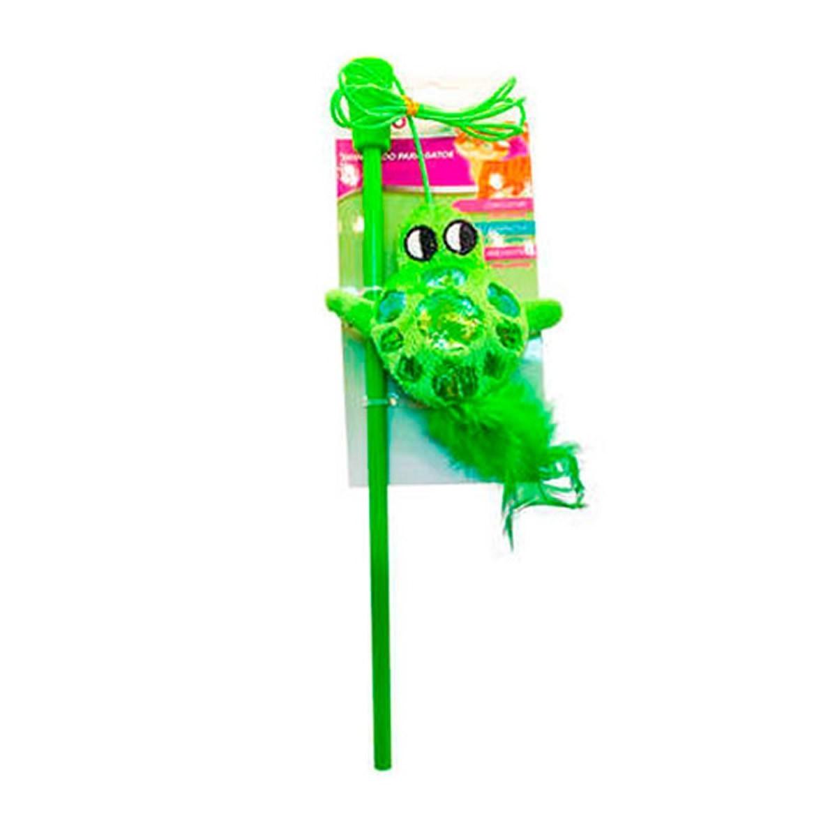 Brinquedo para Gatos Akio Varinha Sapo Verde