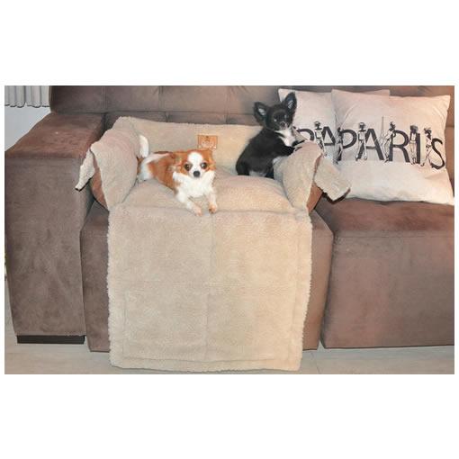 Cama para Cachorro e Gato Alasca Bichinho Chic Marrom