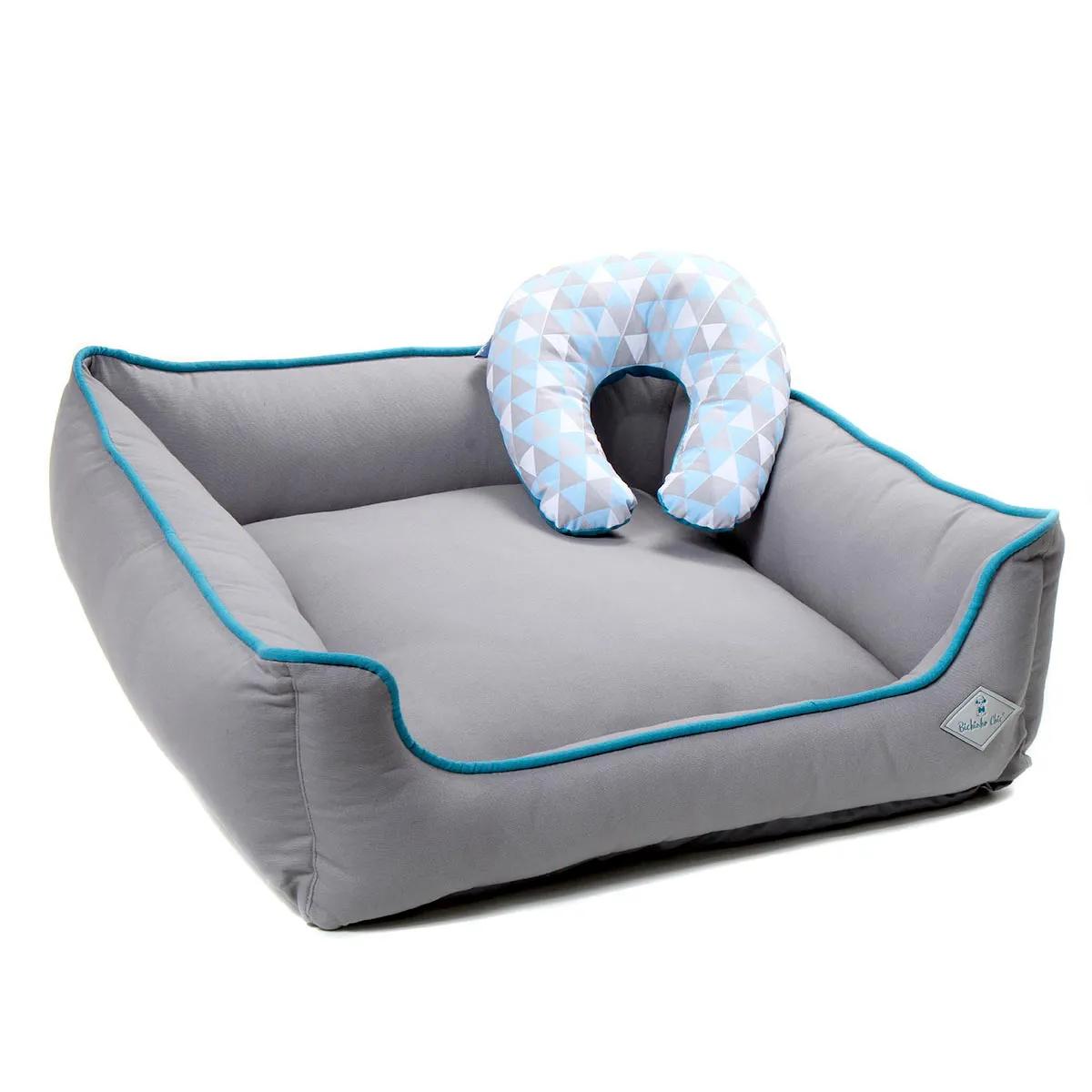 Cama para Cachorro e Gato Baby Bichinho Chic Azul