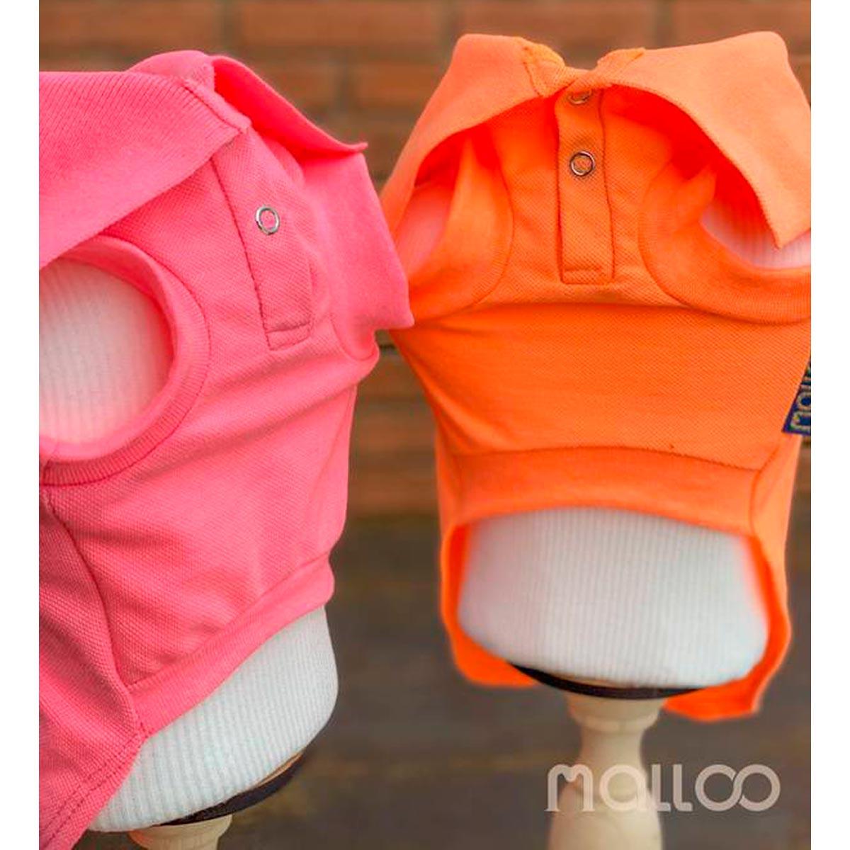 Camisa para Cachorro Malloo Pólo Neon Laranja