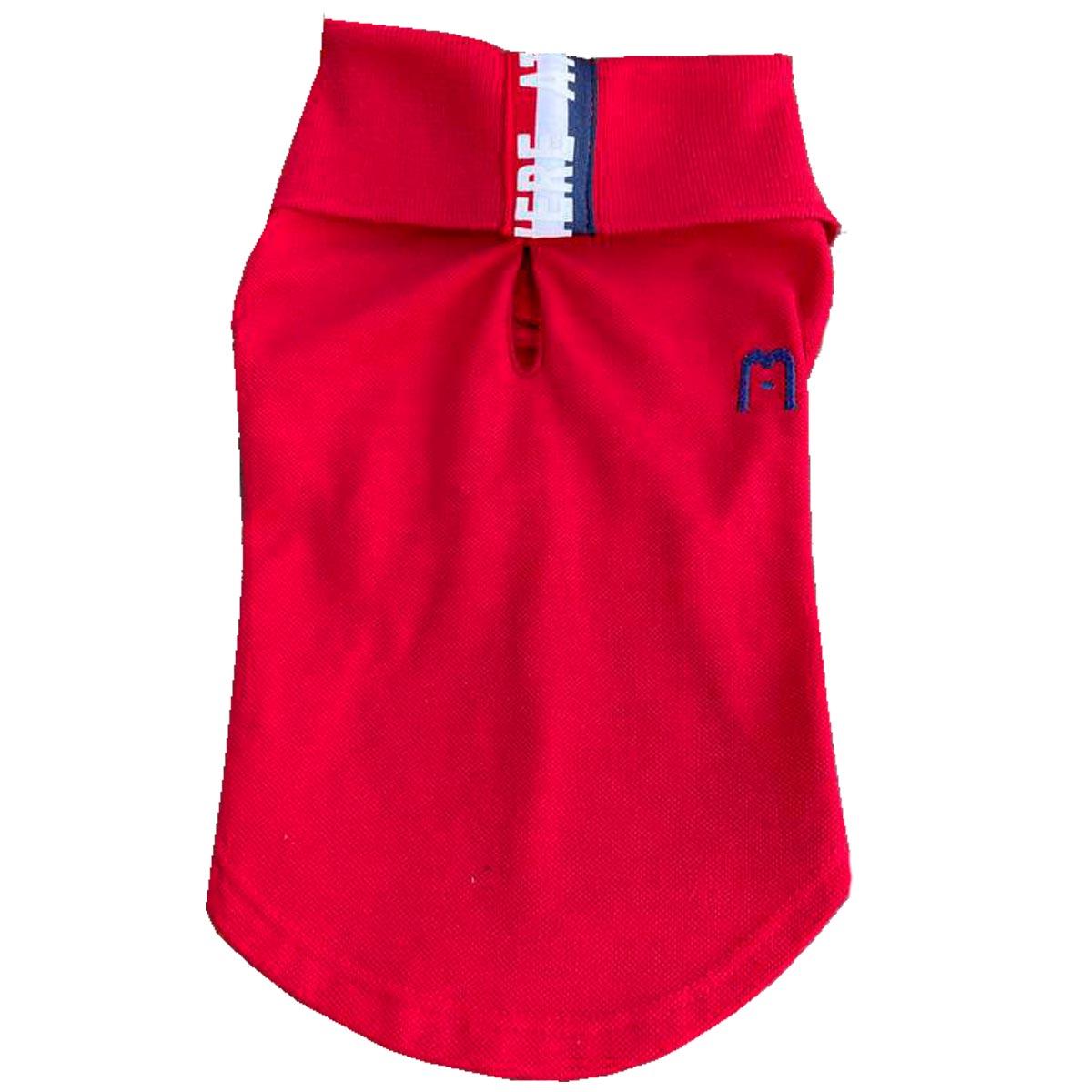 Camisa para Cachorro Malloo Pólo Vermelho