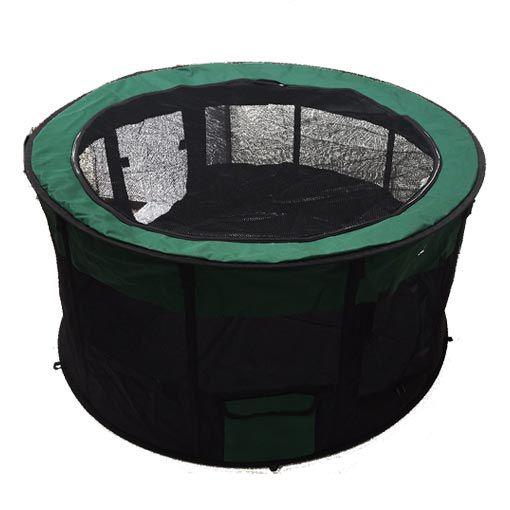 Canil Portátil Pet&Go Espaço de Lazer para Cães Verde