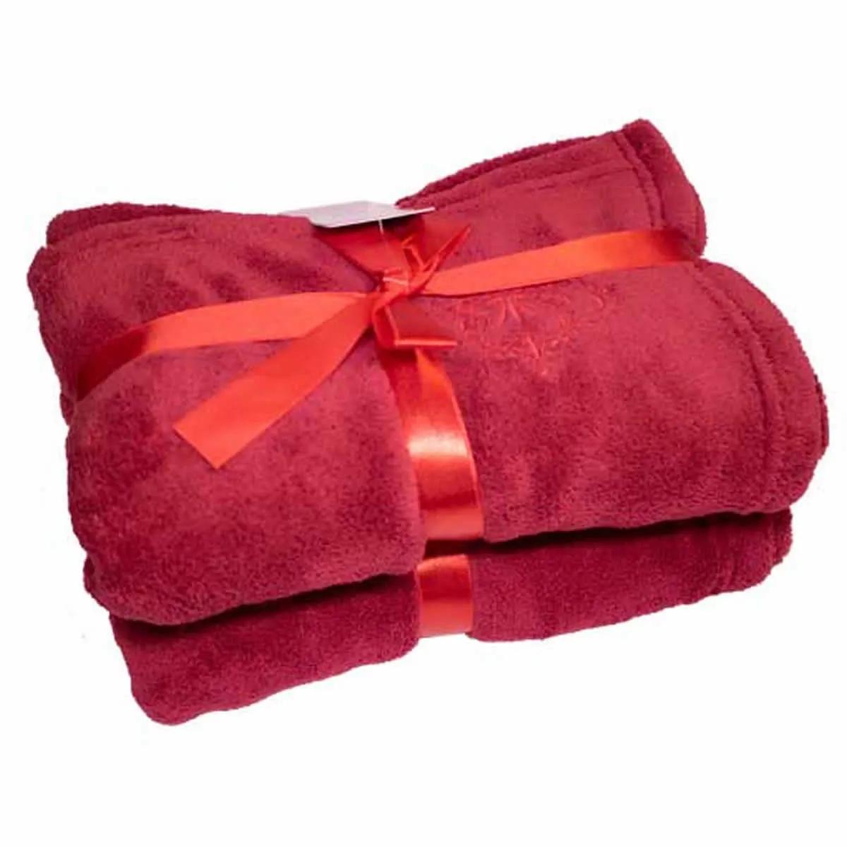 Cobertor para Cachorro e Gato de Microfibra Malloo Vermelho