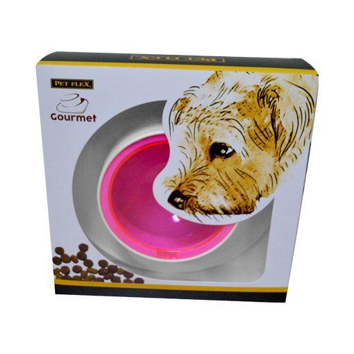 Comedouro Gourmet Pet Flex Para Cachorros e Gatos Rosa