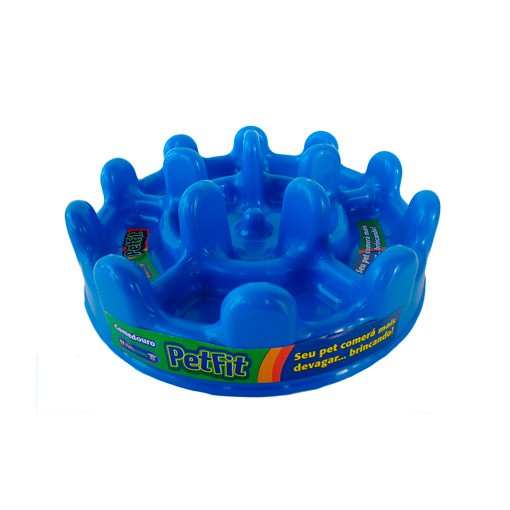 Comedouro Lento Pet Games Mini Pet Fit Azul