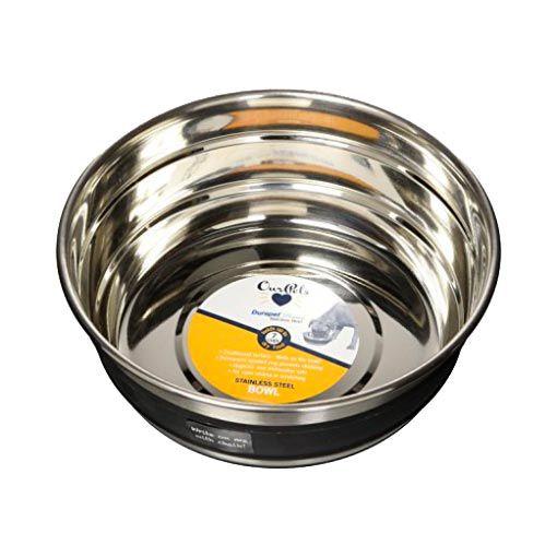 Comedouro para Cachorro Com Lousa Durapet Bowl em Aço Inox
