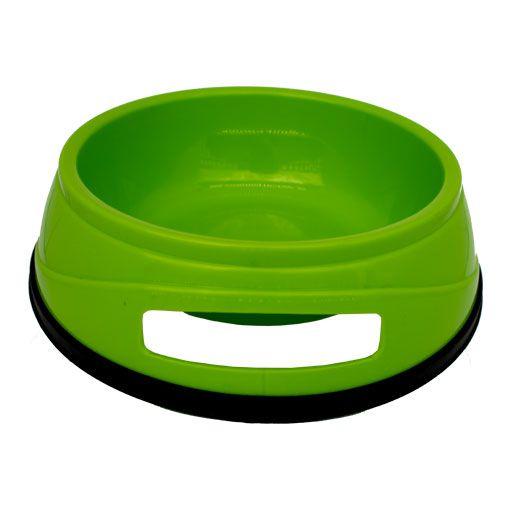 Comedouro para Cães Chalesco Plástico Antiderrapante Verde N° 02