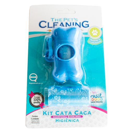Conjunto Cata Caca Azul The Pet's Cleaning