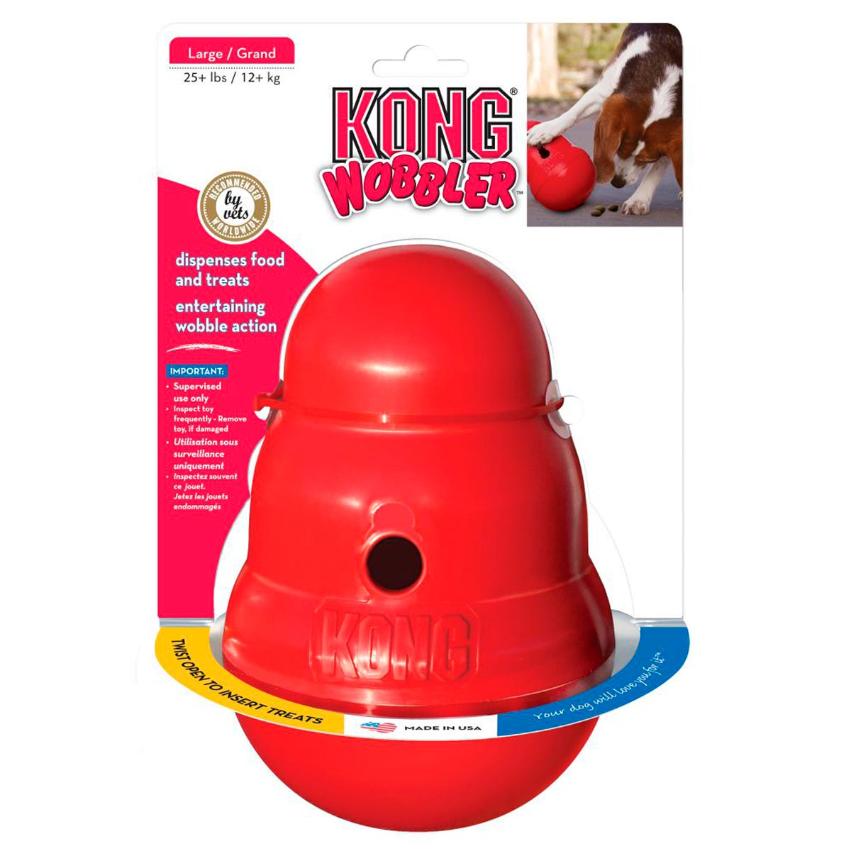 Dispenser de Ração ou Petisco Kong Wobbler