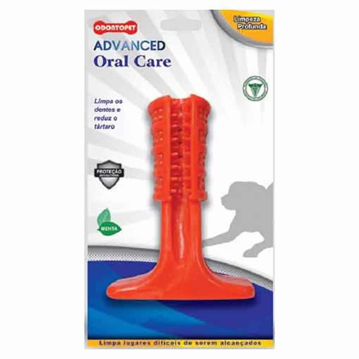 Escova de Dente para Cachorro em Formato de Brinquedo Odontopet Advanced