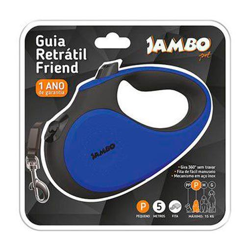 Guia Retrátil Friend Jambo Pet Azul