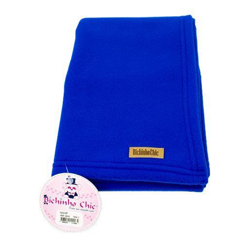 Manta Soft Azul Royal Bichinho Chic