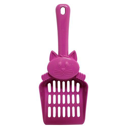 Pá de Plástico para Liteira Mr. Pet-Rosa
