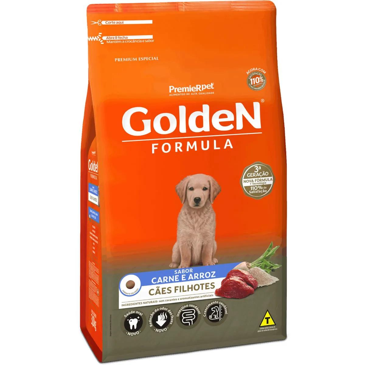 Ração Golden Formula Filhotes Carne e Arroz