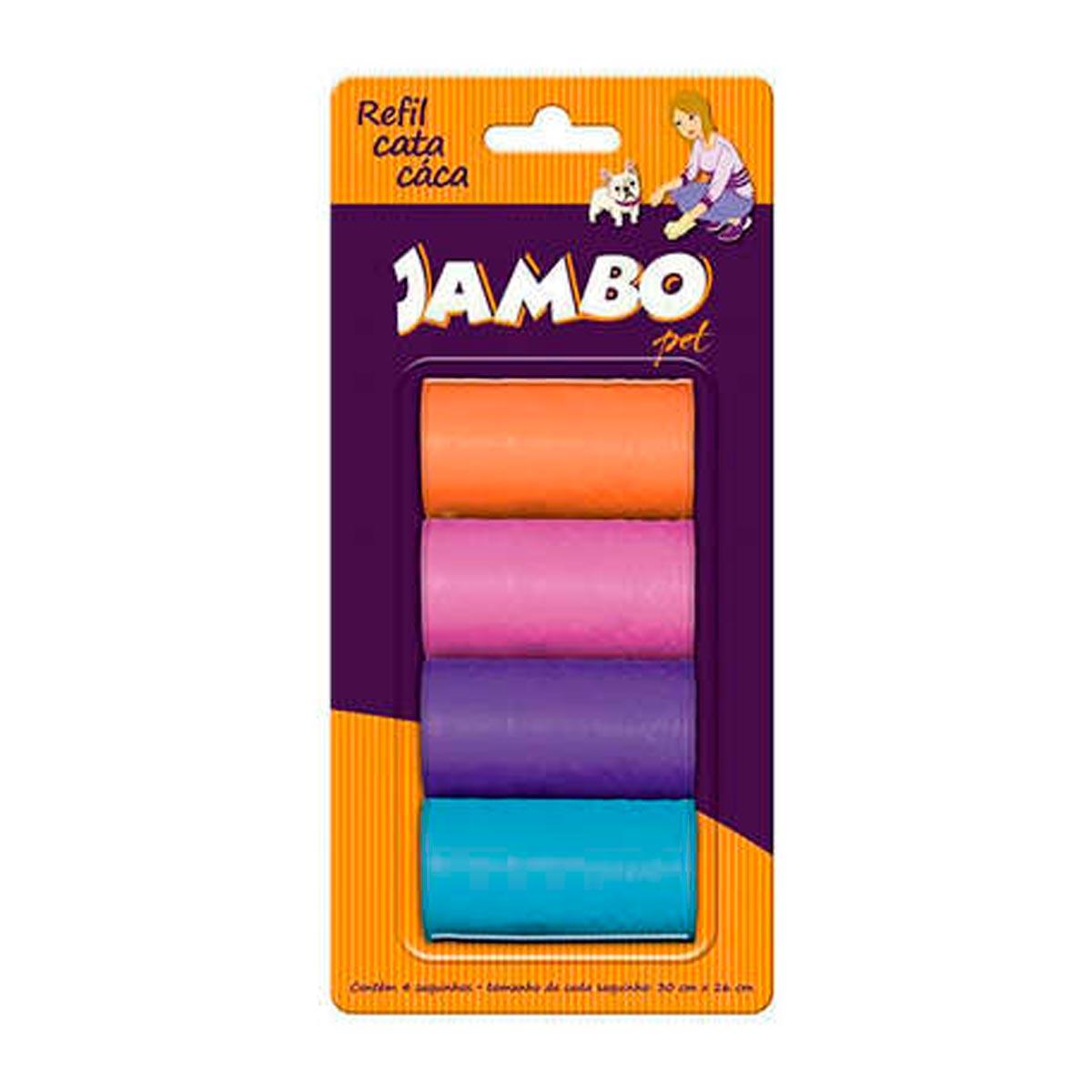 Refil Cata Caca Sortido com 4 Rolos Jambo