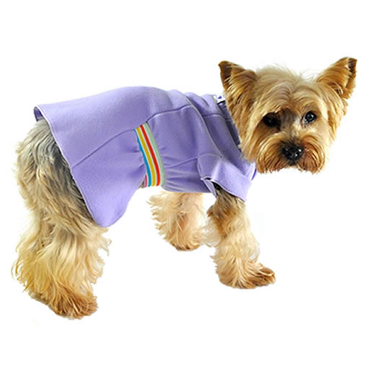 Roupa para Cachorro Vestido Básico Lilás Bichinho Chic